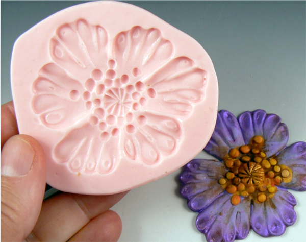 a press mould for use with clay Flowers /& Leaves Sculpey® Push Mold