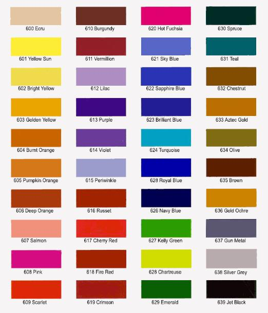 Jacquard Acid Dye Color Chart